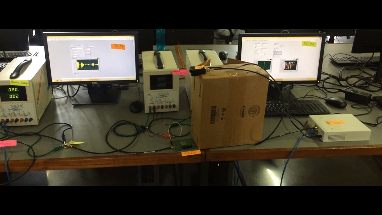 Visible Light Communication Demonstration with LabVIEW and USRP N210