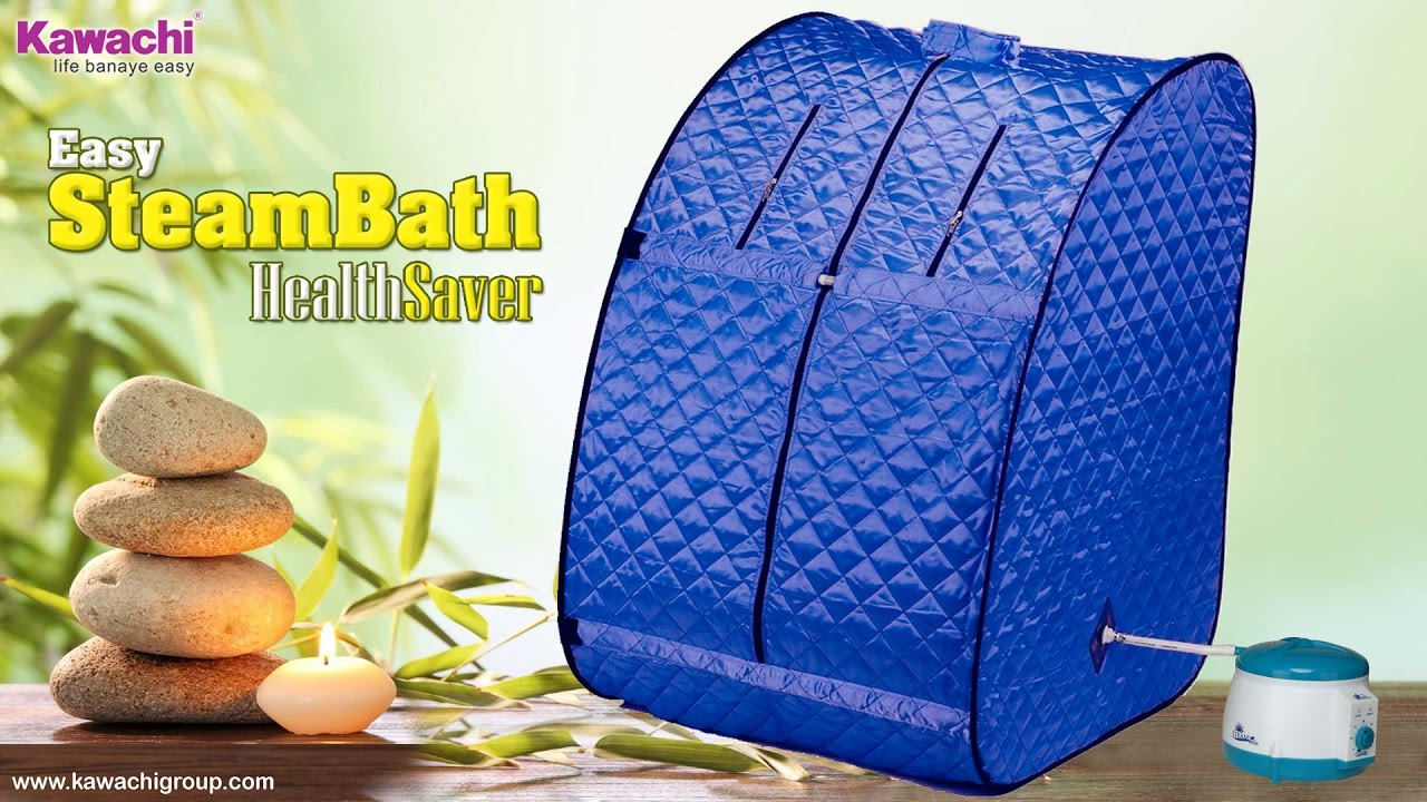 Kawachi Personal Home Theutic Portable Steam Spa Bath - YouTube on