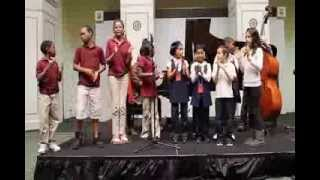 Pangaea Jazz Quartet, teaching kids, at Chicago Cultural Center