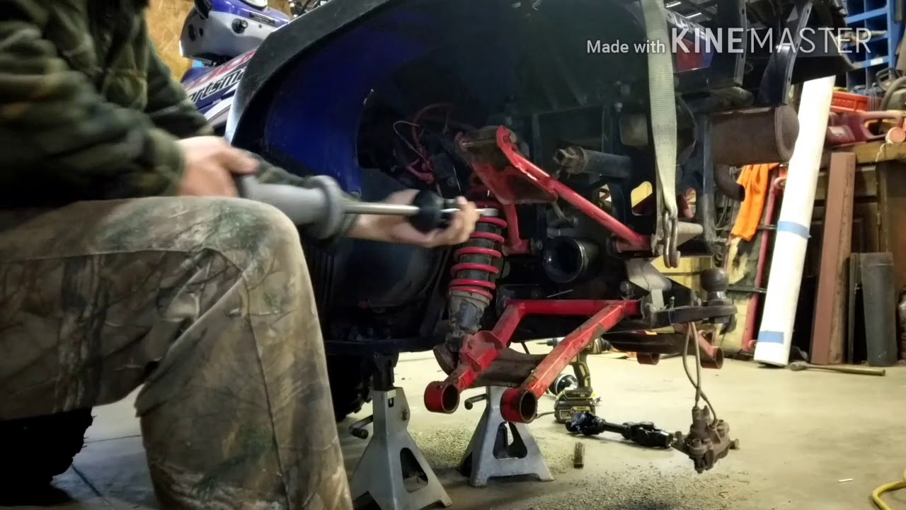How to remove a stuck cv axle the easy way
