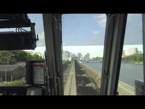 【4K前面展望】東京モノレール 空港快速(羽田空港第2ビル~浜松町) Tokyo Monorail /Airport Rapid(Haneda Airport-Hamamatsucho)