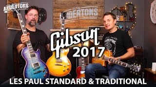 gibson 2017 les paul shoot out standard vs traditional
