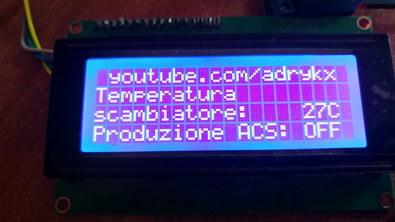 Arduino Termostato Fai Da Te Ds18b20 Rel 232 E Display Youtube