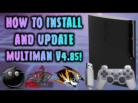 Install & Update multiMAN v4.85! Any CFW PS3!