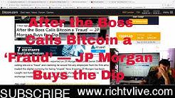 Breaking News - After the Boss Calls Bitcoin a 'Fraud' — JP Morgan Buys the Dip