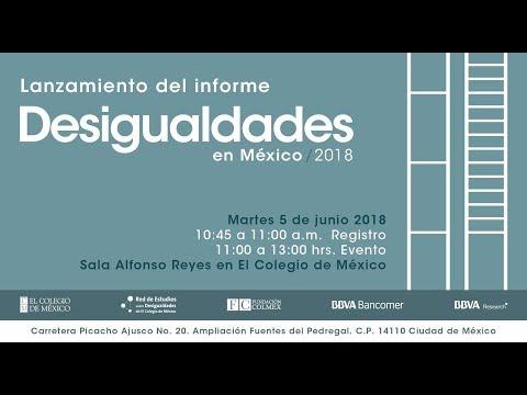 Lanzamiento del informe Desigualdades en México 2018