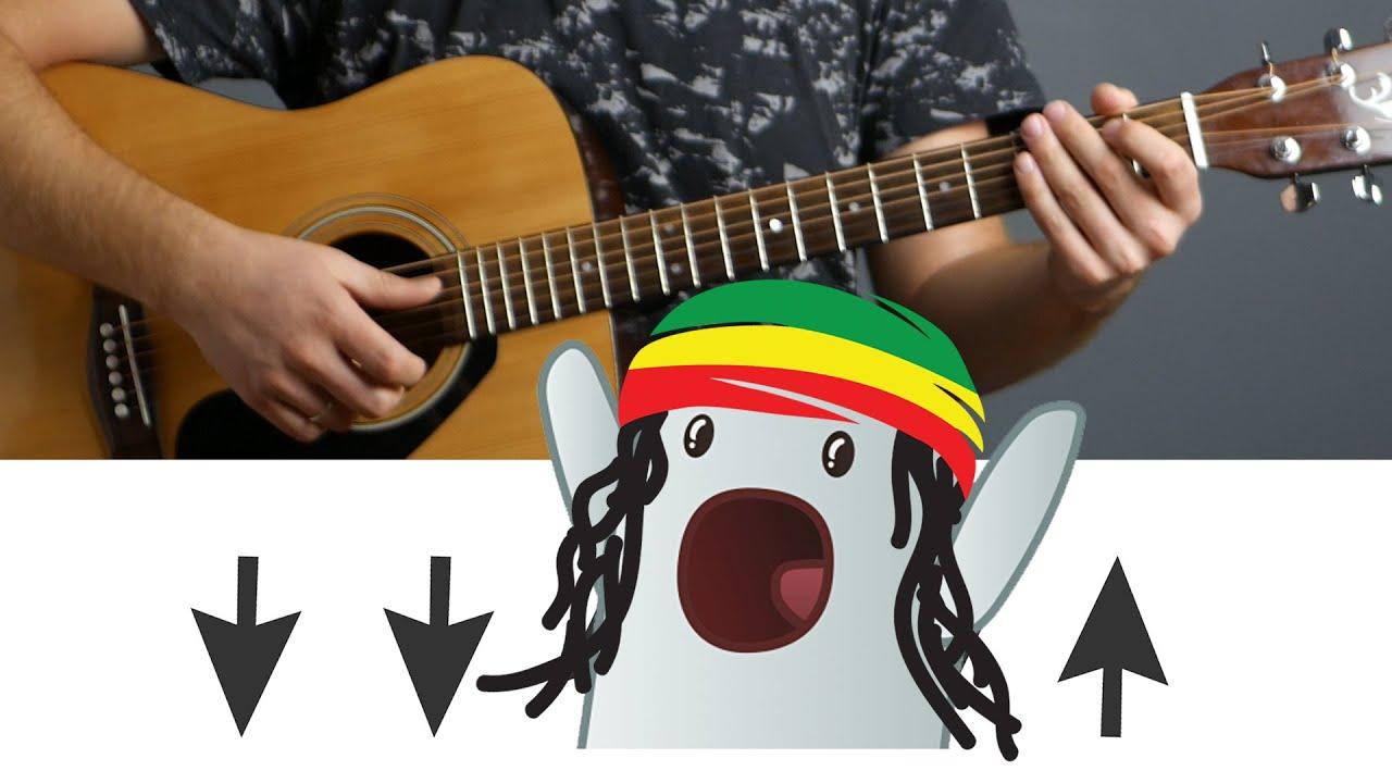 Как играть бой регги на гитаре