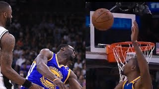 Draymond Green w/ the WORST Flop Ever, Kevin Durant Impersonates LeBron w/ Magical DOUBLE BLOCK