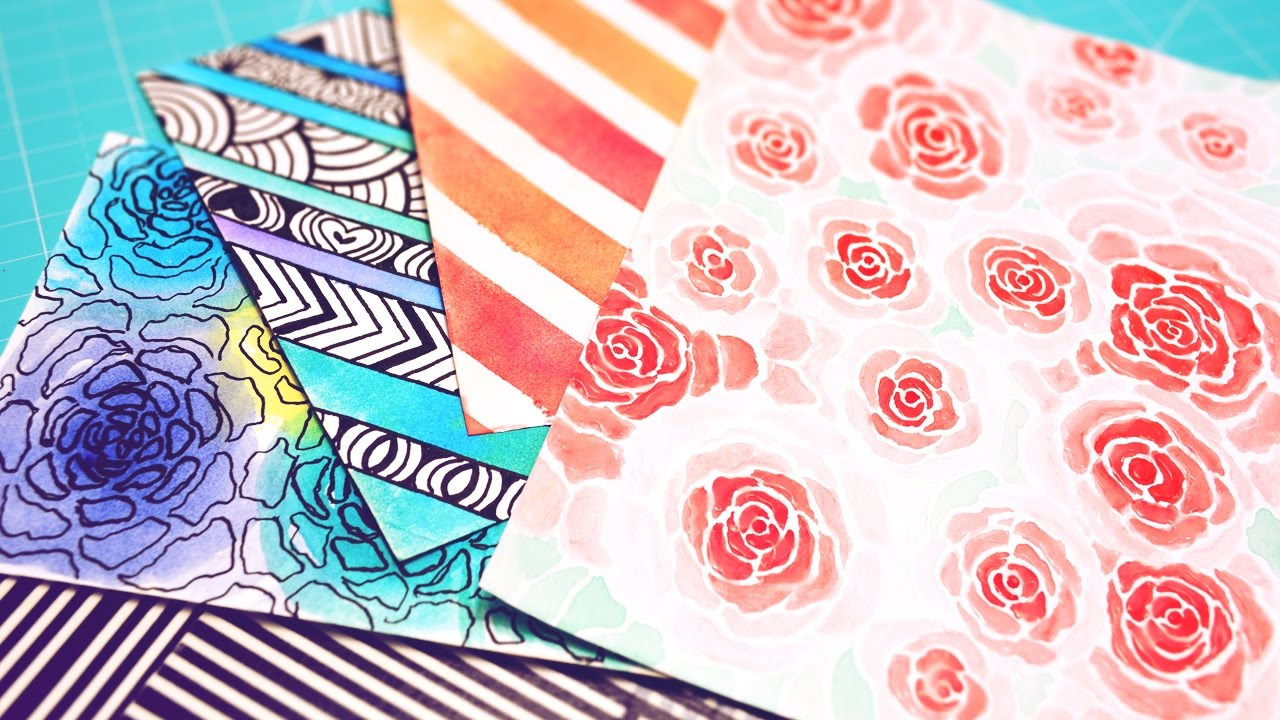 No tienes hojas scrapbook crea tu propio papel decorado for Imagenes de papel decorado