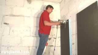 рУСПАНЕЛЬ.  Монтаж панелей РПГ на стену: утепление и гидроизоляция