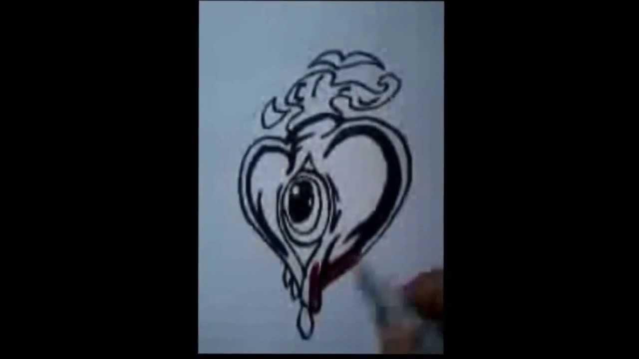 Como Desenhar Coracao Tribal 2 Youtube