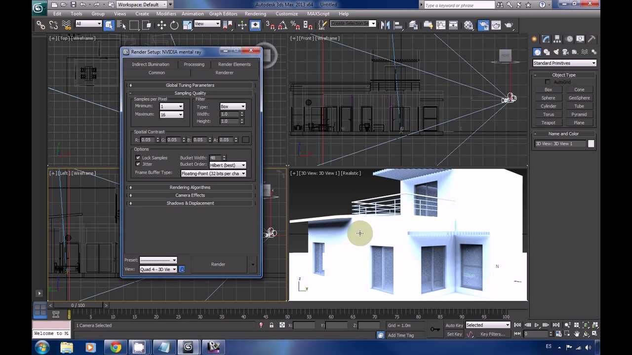 Importar de revit a 3dmax youtube for Modelar habitacion 3d max