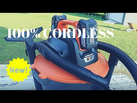 This Amazing Shop Vac is 100% Cordless! RIDGID 18v 9 Gallon Cordless Wet Dry Vacuum (FULL REVIEW!)