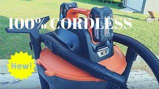 This Amazing Shop Vac is 100% Cordless! RIDGID 18v 9 Gallon Cordless Wet Dry Vacuum (FULL REVIEW!)