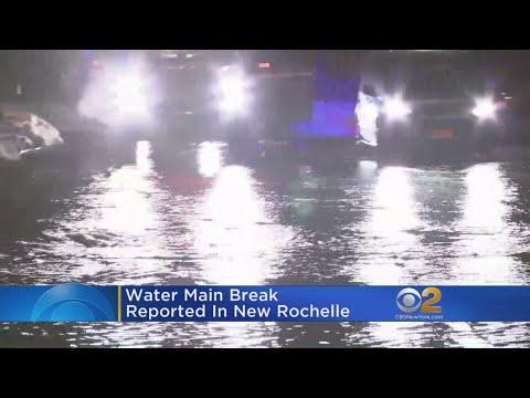 Water Main Break In New Rochelle
