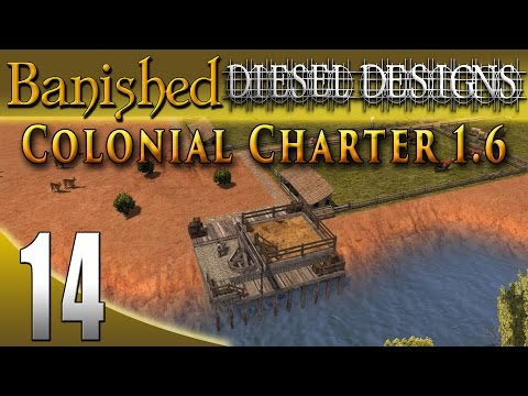 Banished Colonial Charter 1.6: EP14: Farm Trader & Horses! (City Building Series 60FPS)