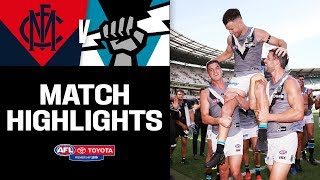 Gray celebrates 200th in style | Melbourne v Port Adelaide Highlights | Round 1, 2019 | AFL
