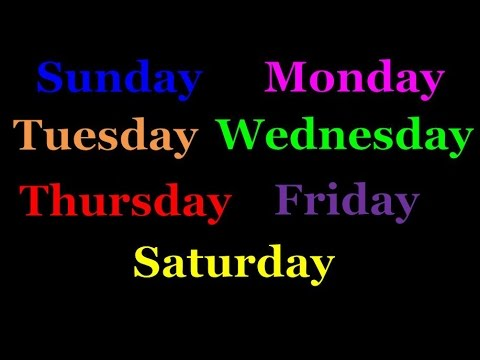 The Days of the Week Song (Starting with Sunday) | Silly School Songs