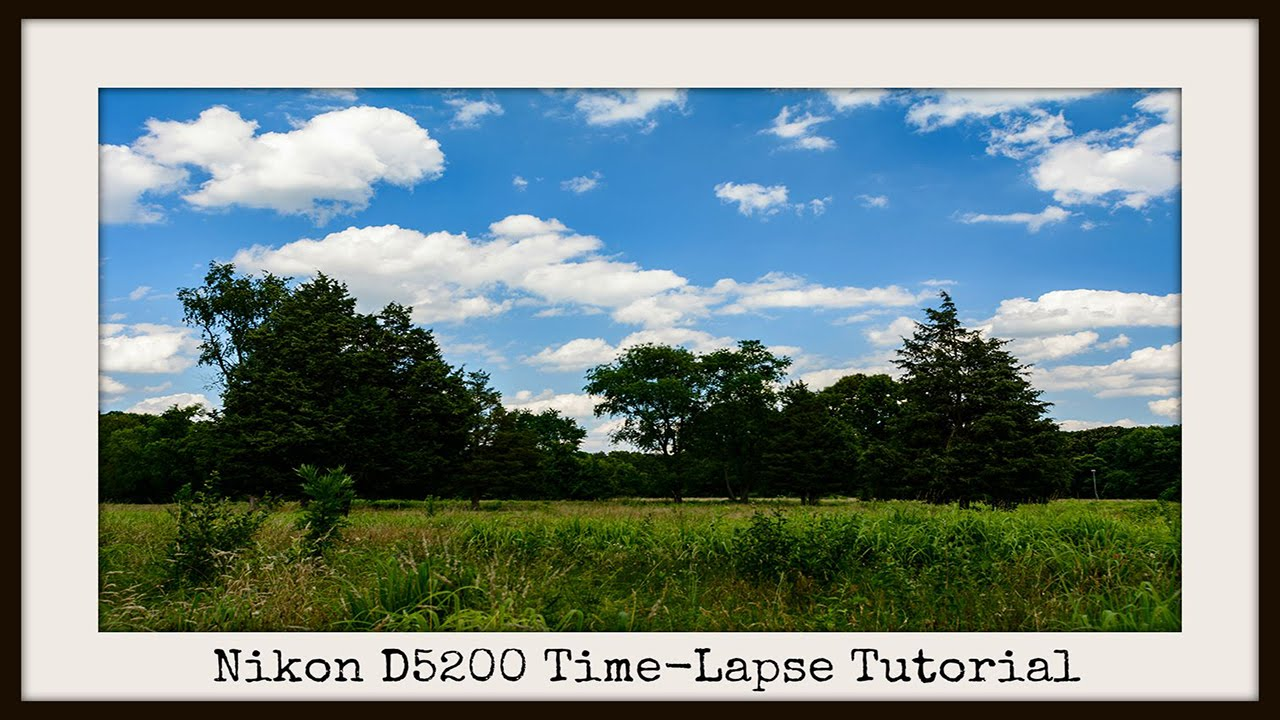 how to set a timer on a nikon d5200