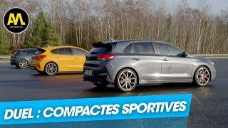 Ford Focus ST vs Hyundai I30 N vs Seat Leon Cupra : le match des compactes sportives