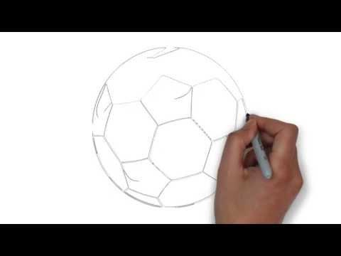 วาดรูปฟุตบอล Drawing football