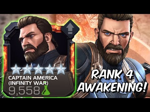 5 Star Captain America Infinity War Rank 4 Rank Up & Gameplay - Marvel Contest of Champions