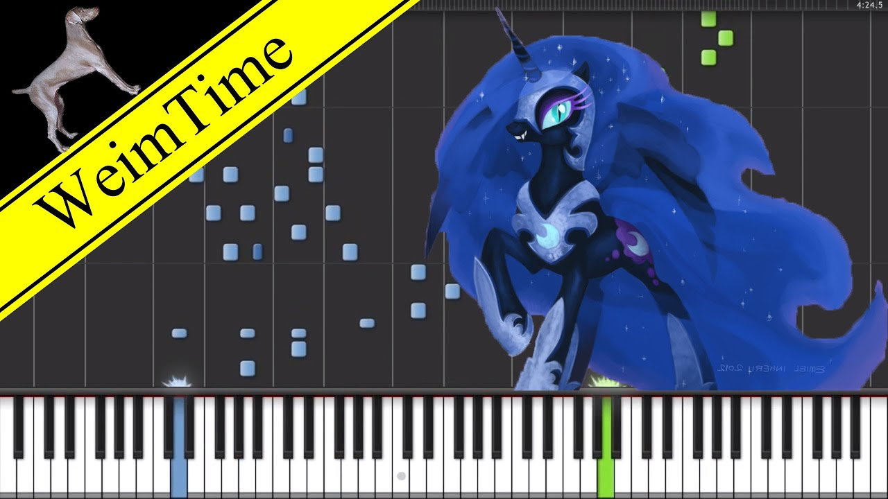 Nightmare Night Piano Cover Synthesia Hd Youtube
