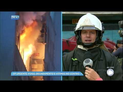 Coronel dos Bombeiros explica situação de prédio que desabou em São Paulo