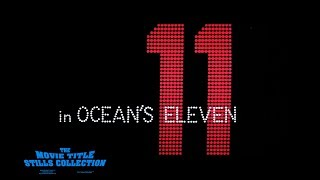 Saul Bass title sequence - Ocean's Eleven (1960)