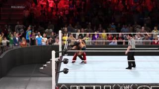 WWE 2K15 Aj Lee vs Brie Bella for Divas Championship