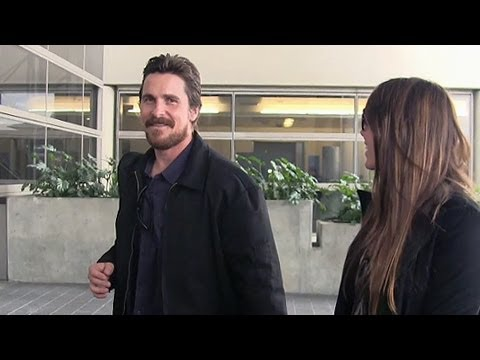 Oscar Nominee Christian Bale Is All Smiles After Valentine's Day With Wife Sibi