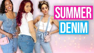 9 Easy Summer Denim Outfit Ideas! (Style 3 Way)