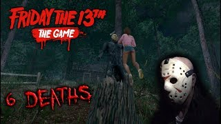 Friday the 13th the game - Gameplay 2.0 - Jason part 8 - 6 Deaths