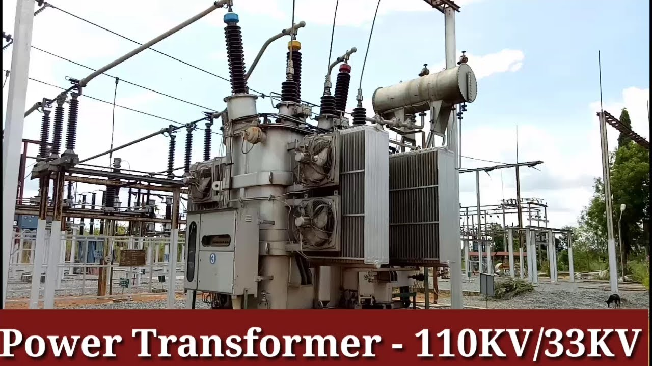 110 KV High Voltage Transformer In The Electric Substation