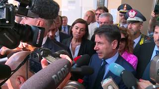 Il Presidente Giuseppe Conte a Bologna, dichiarazioni alla stampa