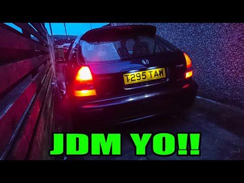 DIY JDM Tail lights for EK Civic hatchback
