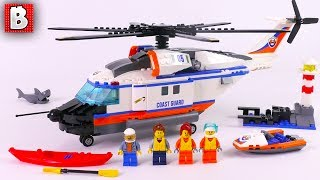LEGO Heavy-duty Rescue Helicopter 60166! Coast Guard set   Review Unbox Build Time-lapse