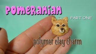 Pomeranian Polymer Clay Charm Part One
