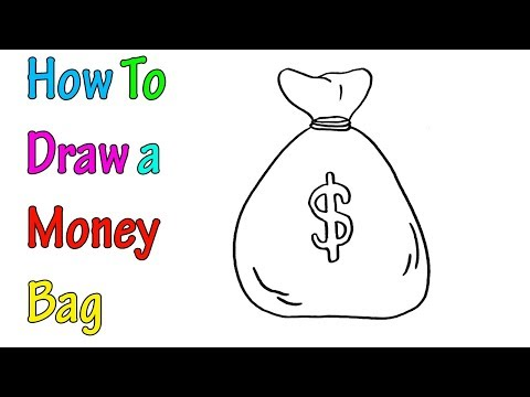 How To Draw A Money Bag Very Easy For Kids You