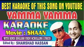 Yamma Yamma Karaoke Shaan With Hindi English Urdu Lyrics Mohammed Rafi, RD Burman By Shamshad Hassan