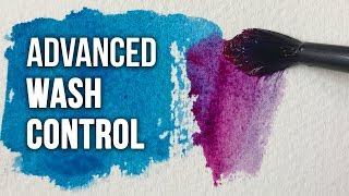 Advanced WASH CONTROL | Watercolor Painting Technique