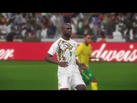 South Africa vs Senegal full match gameplay live broadcast camera HD60fps - PES 2018