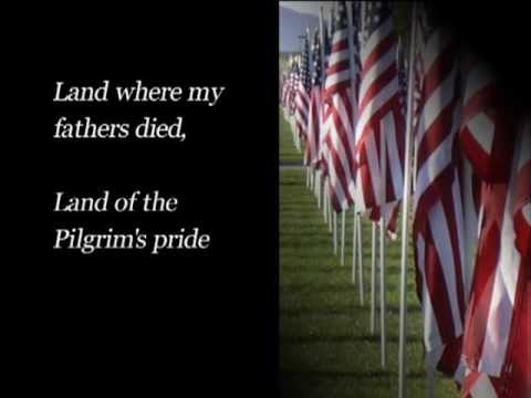 My Country Tis of Thee with Lyrics