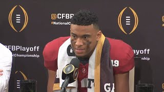Post game interview with Tua Tagovailoa and Xavier McKinney