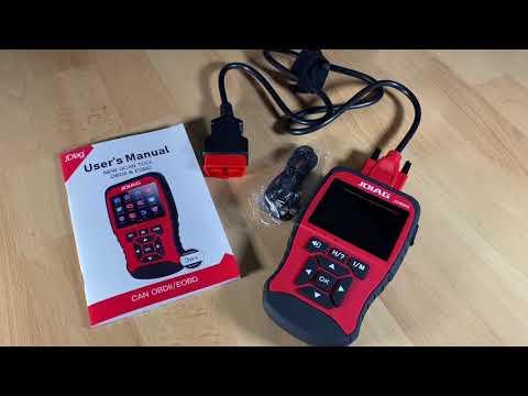 JDiag TP906S TopDiag JD906S OBD2 Scanner Enhanced OBDII & EOBD Code Reader Unboxing And Instructions