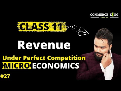 Revenue, Types and nature in perfect market(Class 12 microeconomics)economics on your tips video 27