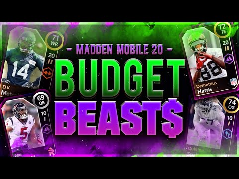 CHEAPEST PLAYERS WITH AMAZING STATS!!! | Madden Mobile 20