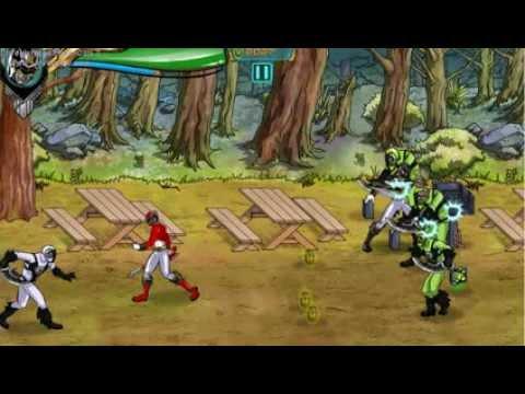 обзор игры могучие рейнджеры самураи на двоих