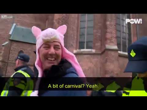 Europe - a land of 'freedom': man in Holland arrested for wearing a pig hat