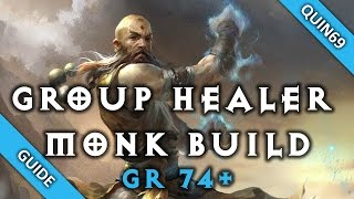 Diablo 3: GR74+  Monk Healing Build (Full Support - Patch 2.3)